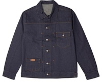 Men's Cotton Woven Denim Jacket Raw Indigo