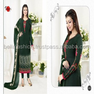 Latest Stylish Wonderful Looking Indian Pakistani Women Wear Special Occasion Fashion Designer Straight Suits
