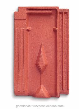Natural terracotta clay roof tile , antibacterial Materials Terracotta Roofing Tiles M8, Gomdatviet clay roofing tiles