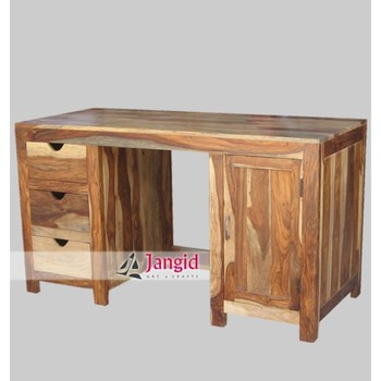 Indian Wooden Sheesham Wood Fancy Office Computer Desk And Counter Table  Furniture