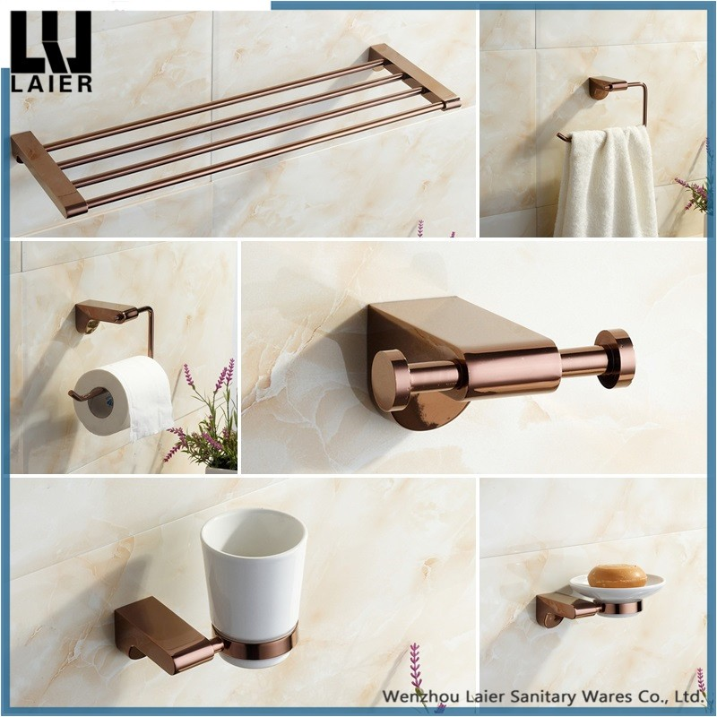 Hot Sales In Dubai Zinc Alloy Bathroom Accessories Sets Complete Rose Plated Finished For Bath Fitting Buy Bathroom Accessory Set Gold Bathroom