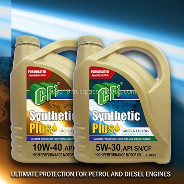 Engine Oil with Additive CF1 Synthetic PLUS 5w30 10w40