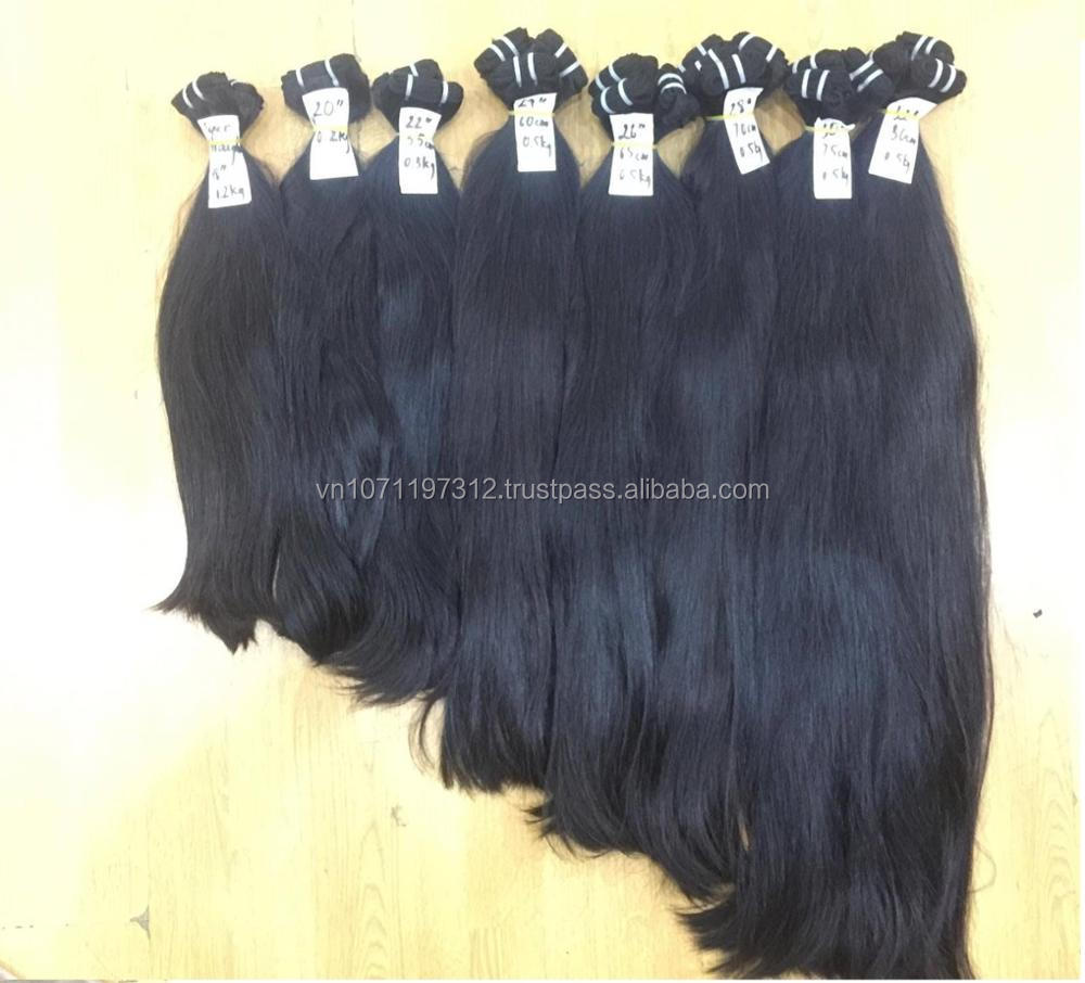 remy straight Human Hair Extension From Natural hair vietnam