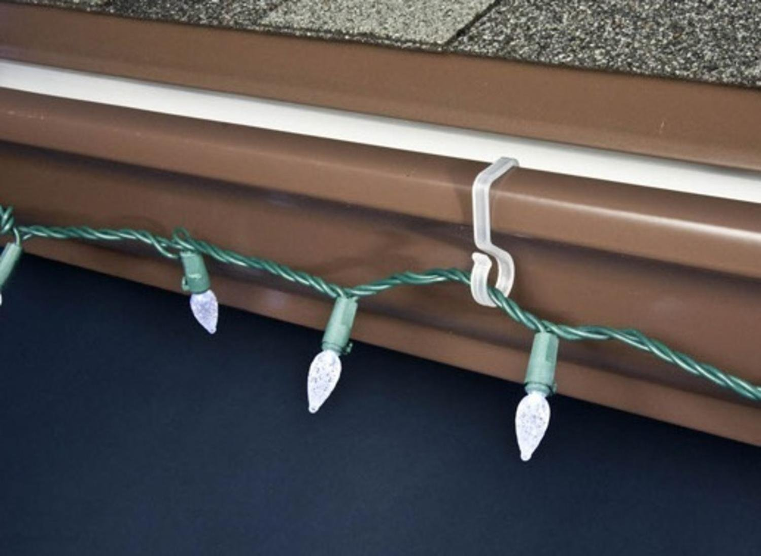 40ct outdoor gutter hooks for hanging christmas lights