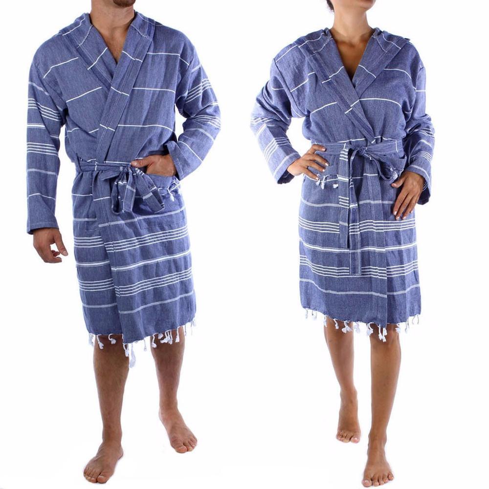 Cool Dark Blue Colored Turkish Spa Bath Hammam Robes Made in Denizli ... fc755fec7