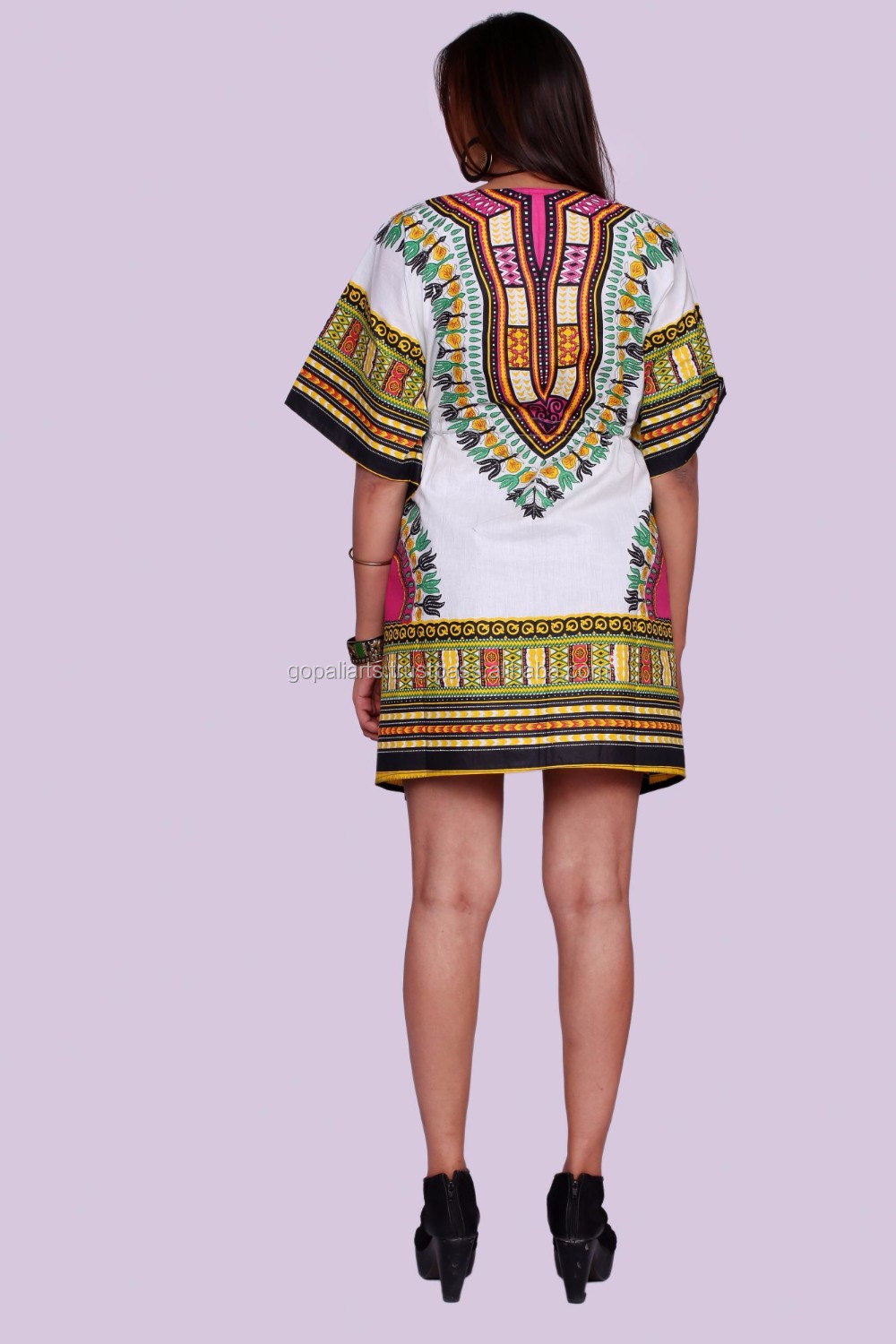 dcf304c4390 Indian Latest Women African Tradition Dashiki Print Sun Dress Kaftan Maxi  Plus size White 4X