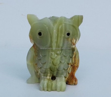 Scultura In Pietra naturale Verde Onice Figurine di Animali Gufo <span class=keywords><strong>Statua</strong></span> DSF-HS24