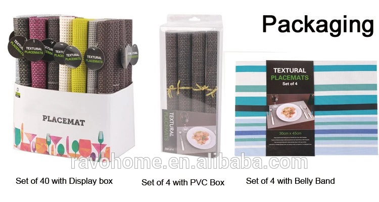 PVC Vinyl Printing Trukey Table Placemat Set