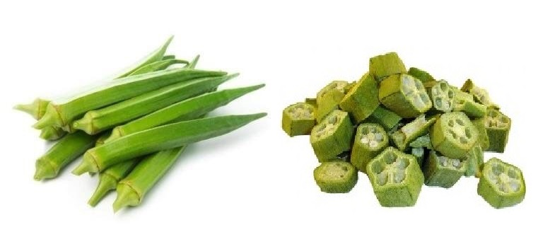 Freeze dried Okra ( Lady finger vegetable ) 100%