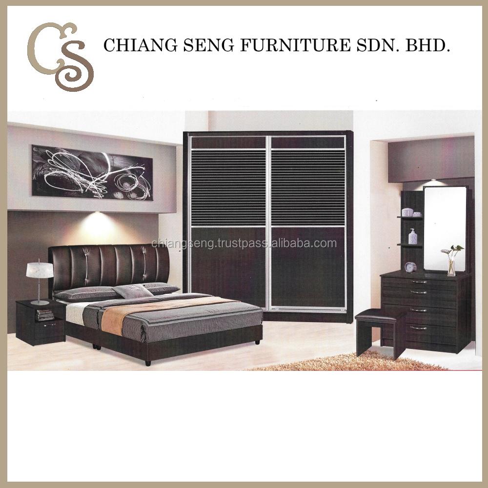 Modern furniture master king size bed set bedroom set 3