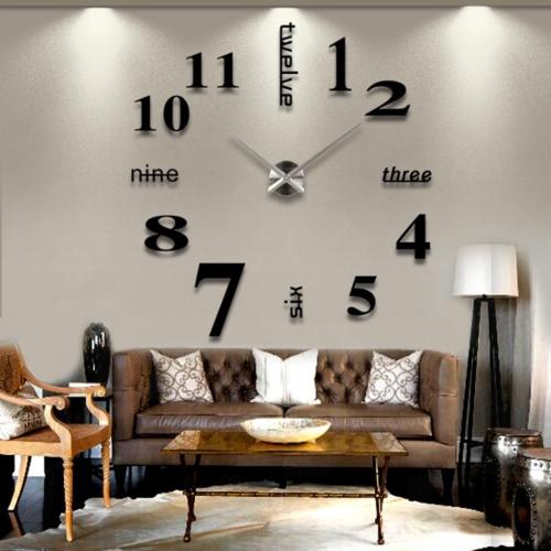 best high quality innovative Creative 3D Mirror DIY Wall Sticker Clock wall clock Wall decal & Best High Quality Innovative Creative 3d Mirror Diy Wall Sticker ...