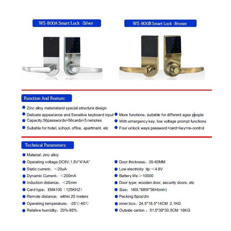 Touch Screen Cylinder Rfid Door Lock With Handle - Buy Door Handle  Lock,Rfid Lock,Door Cylinder Lock Product on Alibaba com
