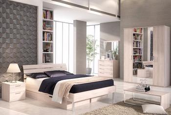 New model modern bedroom furniture light furniture bed wardrobe