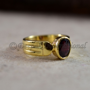 garnet gold natural brilliant cut garnet healing gemstone garnet men wedding engagement gift for him 925 sterling silver ring