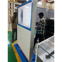 55 inch shopping mall/bank/station floor standing lcd info kiosk touch screen