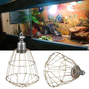 E27 Heat Infrared Lamp Shade Chandelier Led Bulb Holder Shade Cover Reptile Pet Lampshade Wire DIY America Light Cage