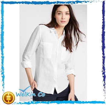 03339b561ab High Quality Ladies Office Uniform Formal White Shirt For Women ...