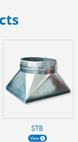 HVAC Plenum Ceiling Box 6x6x4 (6x6 Square to 4 Round