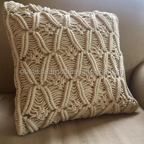 Macrame Pillow Cover Boho Cushion Cover 100 Cotton