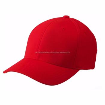 Baseball Cap  Plain 100% Acrylic  red Color Baseball Cap - Buy ... 07d85304f6e