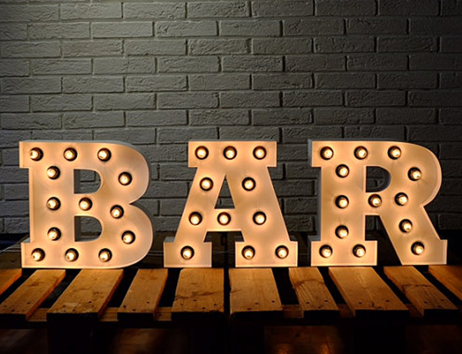 High Quality Extra Large Giant Black Alphabet 3ft 12 Inch Light Up Letters