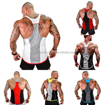 4ce4791c411ed New Gym Men s Muscle Sleeveless Tank Top Tee Shirt Bodybuilding Sport  Fitness Vest