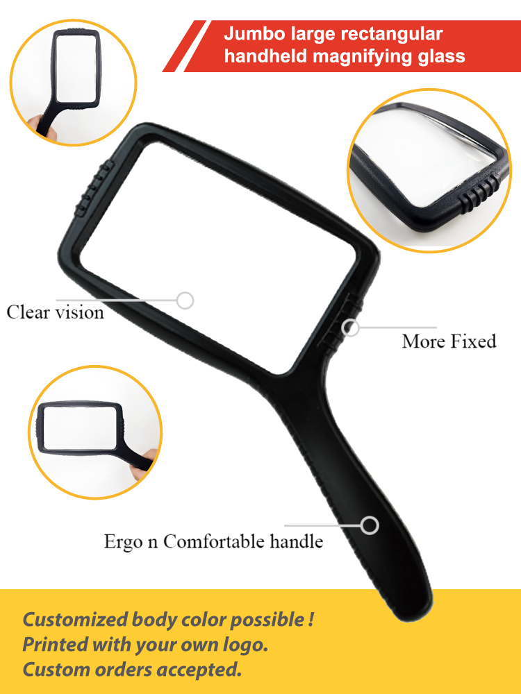lightweight large handheld reading magnifier