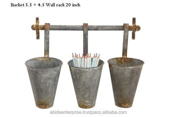 Wall Planter Cone Flower Metal Planters Antique Rustic Product On Alibaba