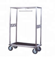 Hot sale hotel bellman cart trolley concierge birdcage trolley luggage cart