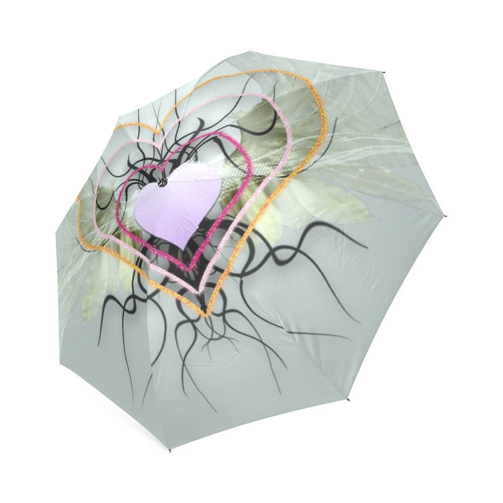 Beautytool Heart Custom Foldable Rain Umbrella