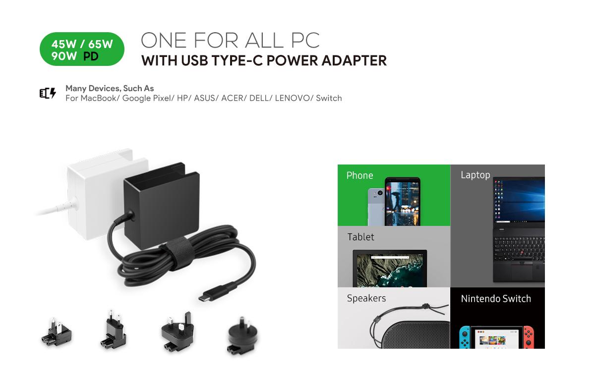 Shenzhen Cathedy Technology Co Ltd Power Supply Usb Charger Notebook Universal Adapter 96 Watt Type C Pd