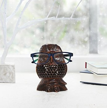 Spectacle Holder Wooden Eyeglass Spec Stand Holder Owl Shaped Best Wooden Display Stands For Figurines