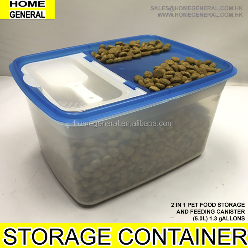 DRY FOOD CONTAINER WITH MEASURING CUP SCOOP