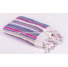 Handloom Towel, Colorful stripes, Peshtemal, Thick and heavy