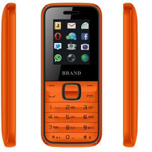 Color display 2.4 inch GSM Very Simple feature 2G phone basic OEM mobile phone factory free sample build in wireless FM SOS GPS