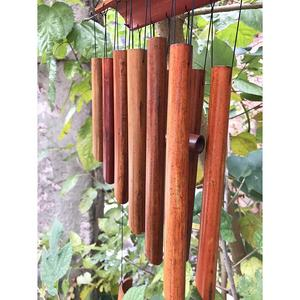 "Bamboo Wind Chime, Large 65cm (25"") 12 Tubes Double Nature Bamboo Wind Chime Indoor Outdoor Wooden Melody Wind Bell"