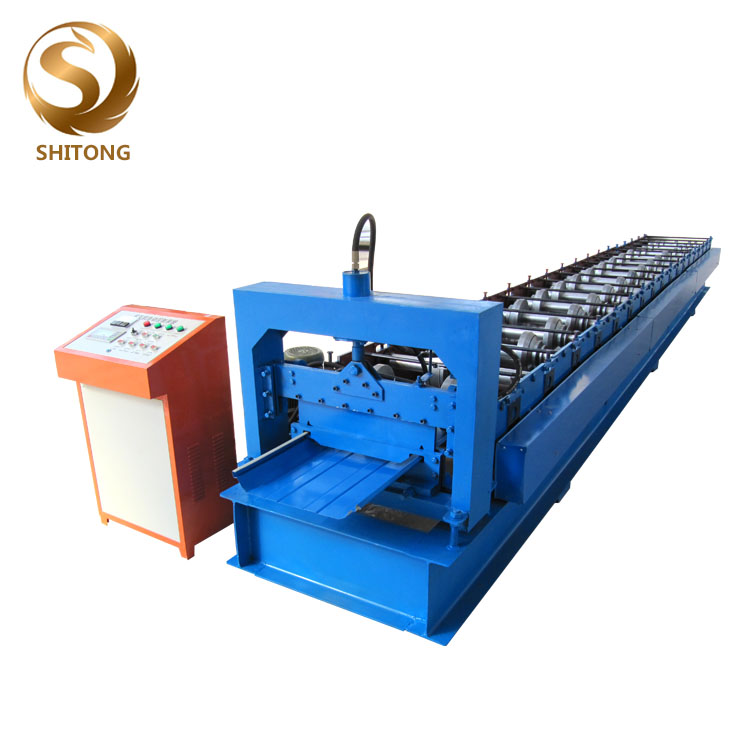 Self ล็อค roof panel roll forming machine