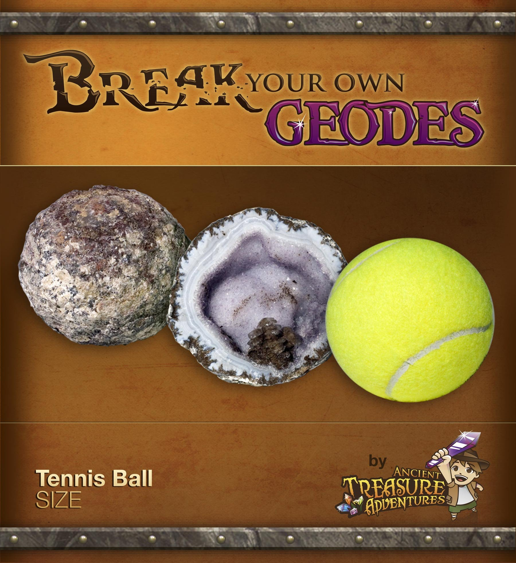 High Quality Break Your Own Geode Tennis Ball