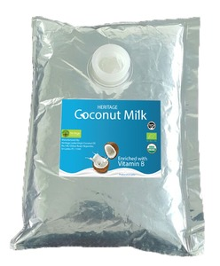 coconut milk 17% fat 2Lt aseptic packaging
