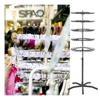 5 tiers rotating floor accessories display stand