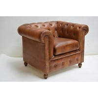 Vintage Home Furnishing Chesterfield Leather Sofa