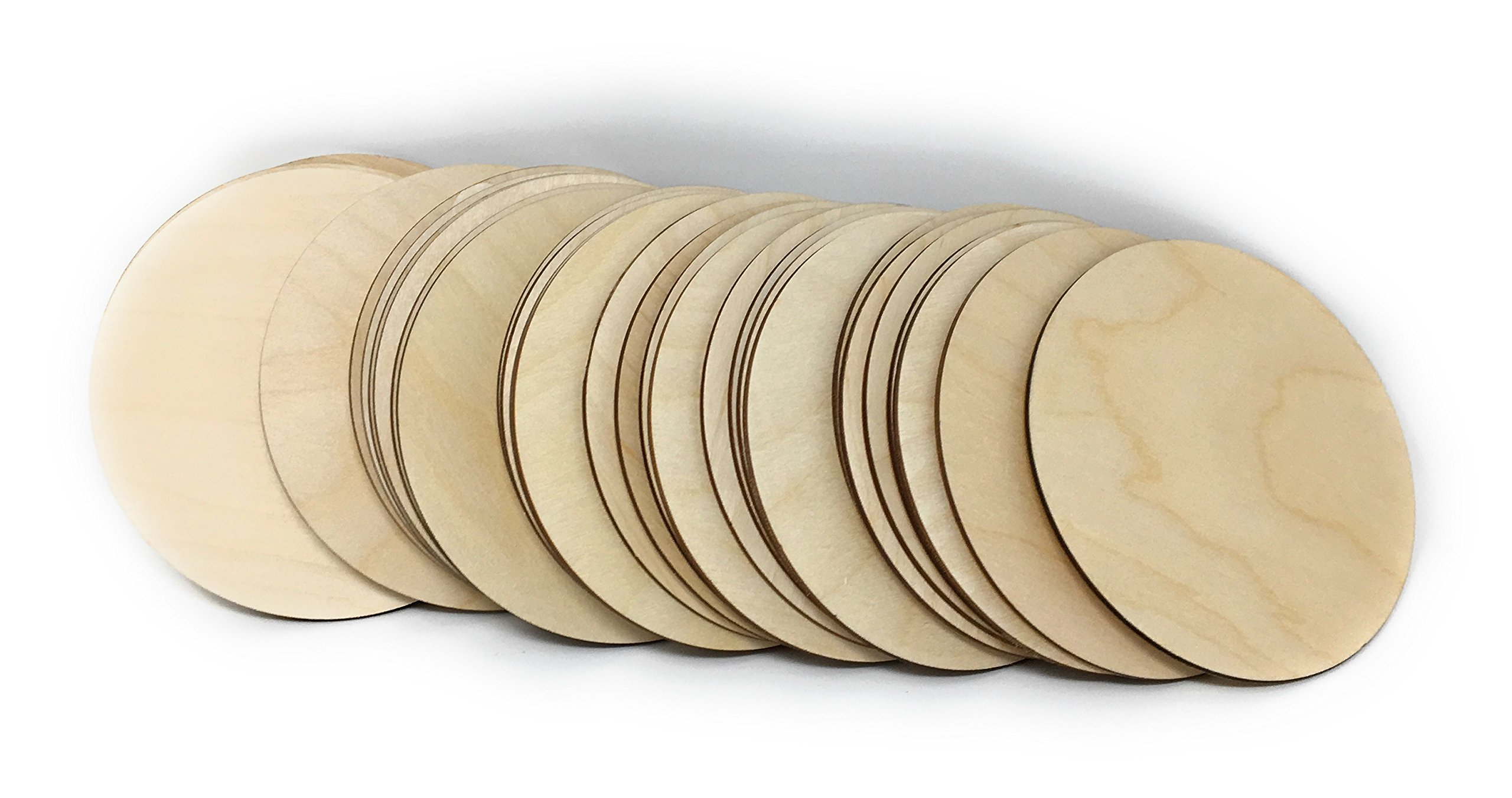 "Gocutouts 10"" Wooden Circles Cutouts Package of 10 Circles Baltic Birch (10"" x10)"