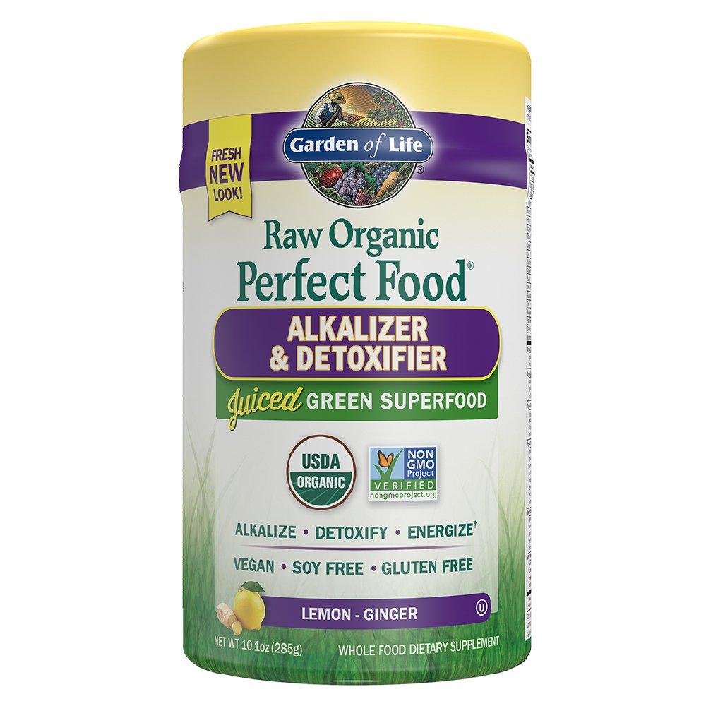 Garden of Life Vegan Green Superfood Powder - Raw Organic Perfect Whole Food Alkalizer & Detoxifier, 10.1oz (285g) Powder