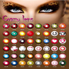 192 Designs Korea Yearly Sharingan Contact Lens Wholesale Colored Naruto Cosplay Contacts FreshTone Halloween