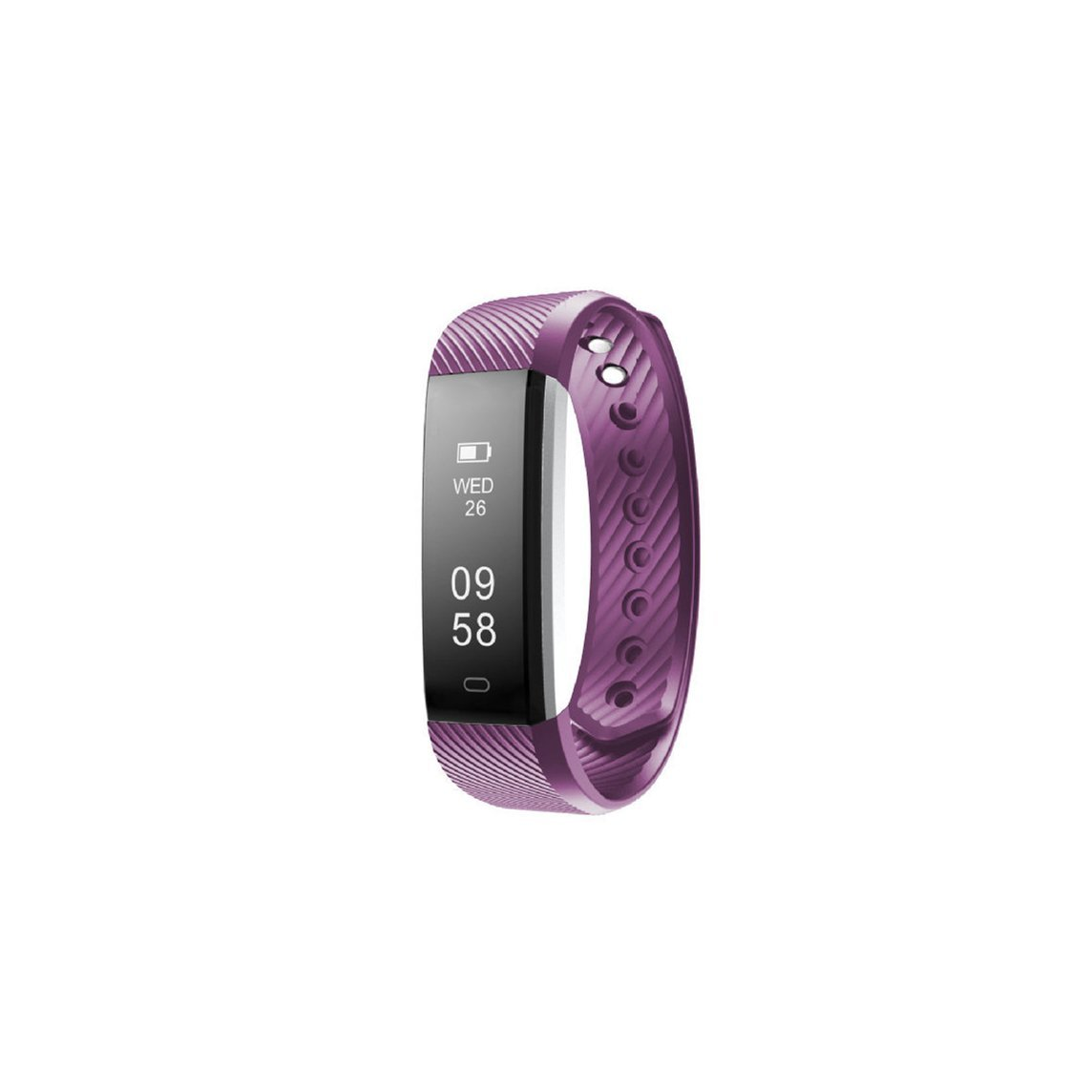 Fitness Tracker Watch Calories Pedestrips Mileage Tracks Blood Pressure Heart Rate Real-time Monitoring Touch Screen Ultra-light Skin-Friendly Material IP67 Waterproof Bracelet (purple)