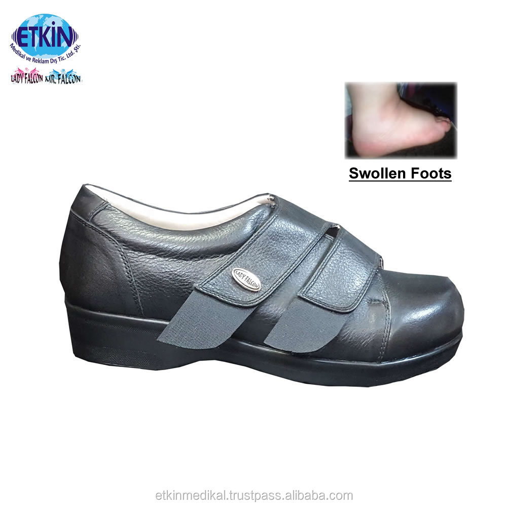 for Women's Sole Quality Leather Diabetic Shoes Edema PU Footwear and First Feet t0xqqR8