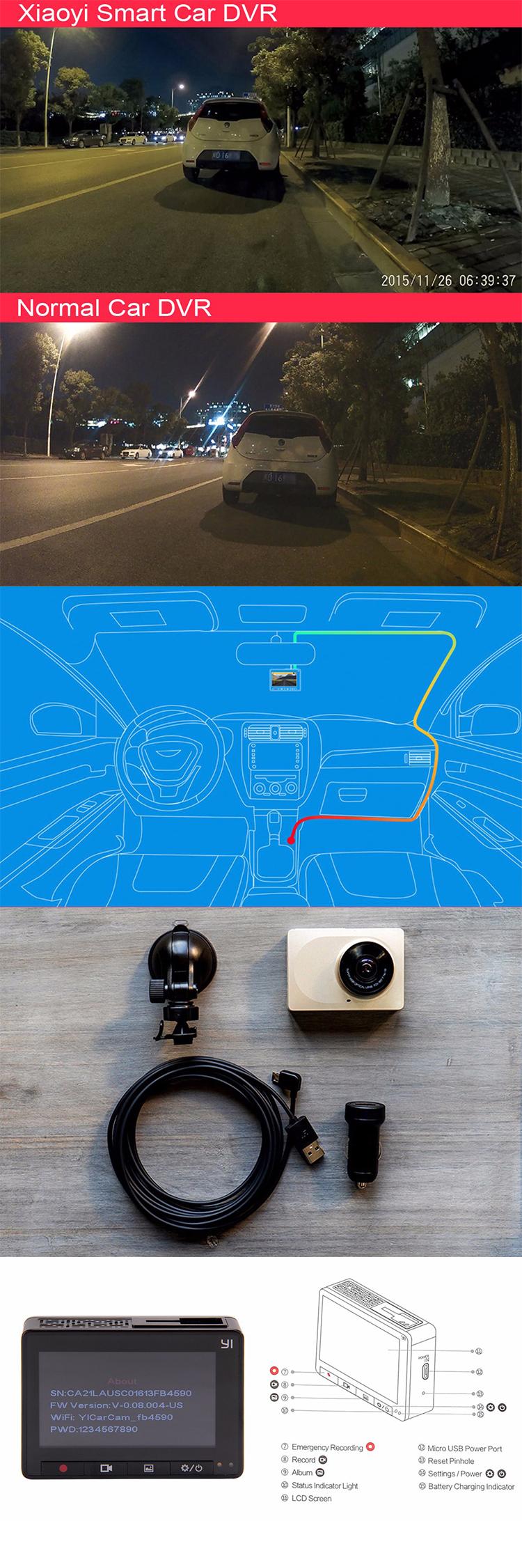 YI Smart Dash Camera 2 7 Inch Car DVR 165 Degree 1080P/60fps Video Recorder  ADAS WiFi Dashcam, View Dash Camera, XIAOYI Product Details from Zaihong