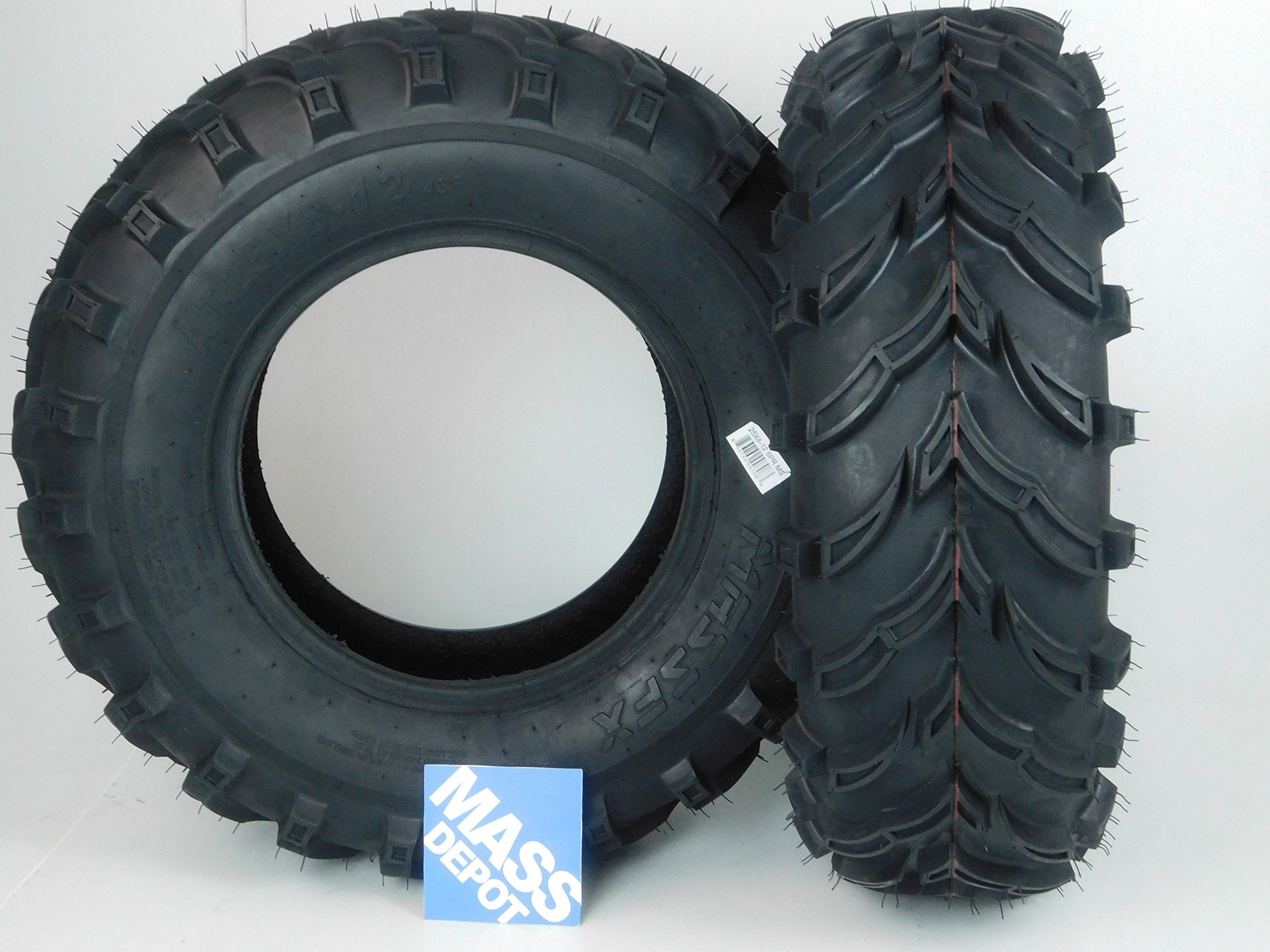 New MASSFX MS ATV/UTV Tires 25x8-12 Front, Set of 2 25x8x12 25x8/12