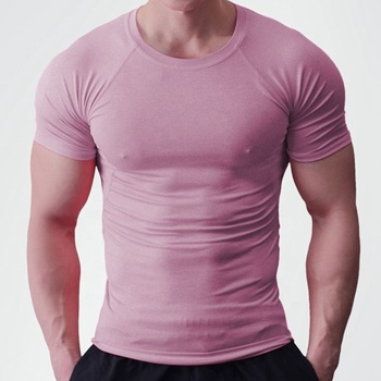 Unique Seamless Fitness Tops Gym Wear Men's T Shirt  in 95 % cotton & 5% Spandex