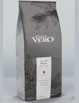 Silver Medal Blend - Made in Italy - 70/30% Arabica/Robusta - Roasted Coffee Beans